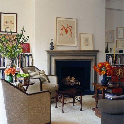 Mantel: Gissler Design, Idea, Fireplaces Design, Fireplaces Mantels, Chairs, Color, Contemporary Living Rooms, Glenn Gissler, Mantles