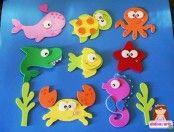 Moldes para hacer animales marinos con fieltro05