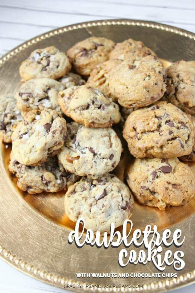 Doubletree Cookies with Walnuts & Chocolate Chips | Spaceships and Laser Beams