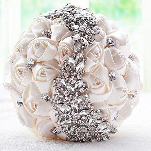 Ziye Shop Handmade Romantic Diamond Pearl Rhinestone Brooch Bridal