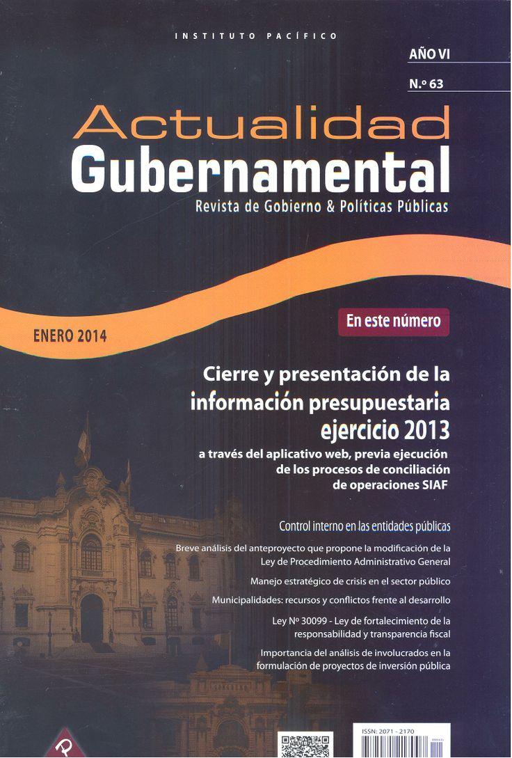 Actualidad Gubernamental. Disponible en la Hemeroteca (Biblioteca Central - Nivel 4A)