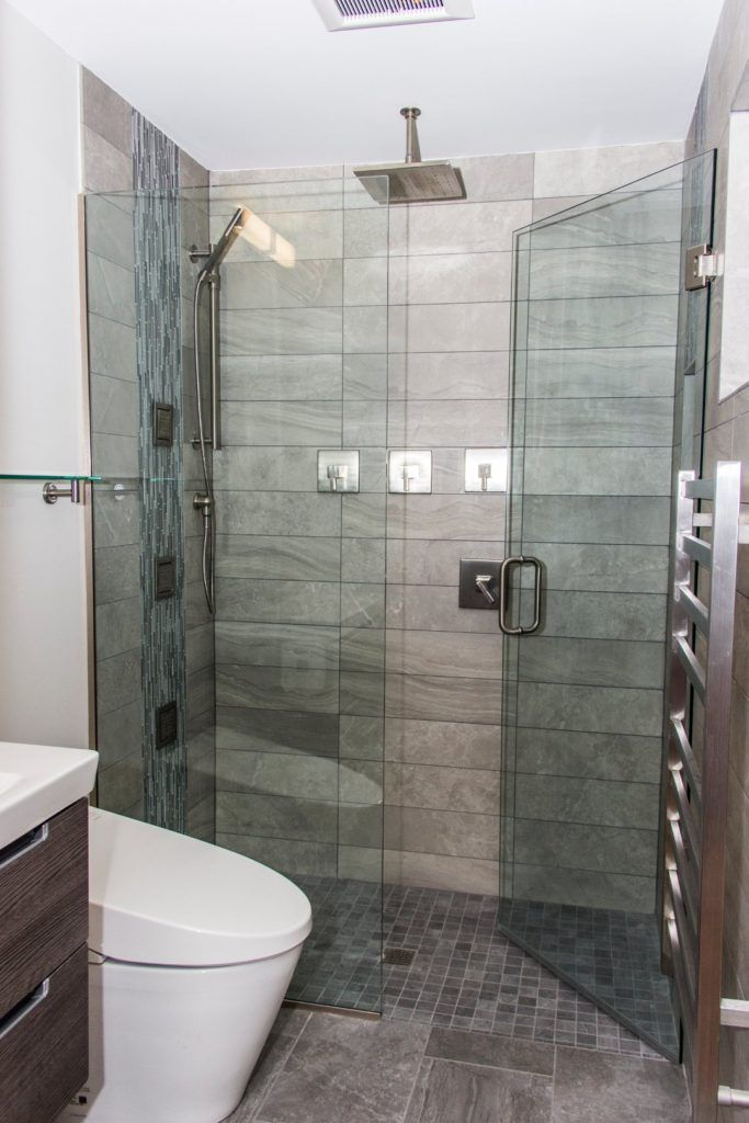 Image result for curbless shower in a small bathroom