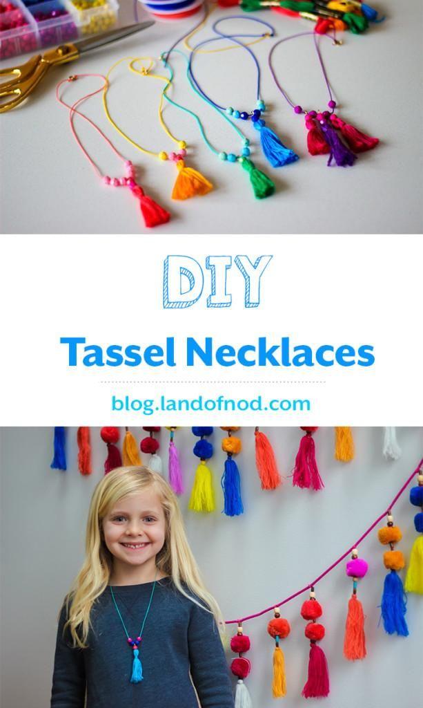 DIY Tassel Necklaces on Honesttonod.com                                                                                                                                                                                 More