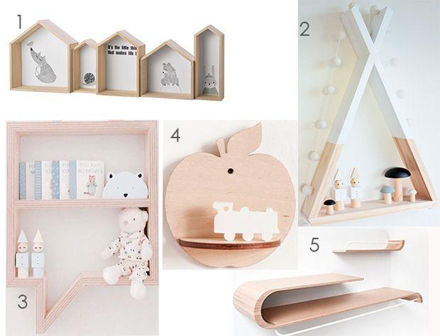 Estanterías originales para el dormitorio infantil - Muebles y decoración - Moda infantil y decoración - Charhadas.com