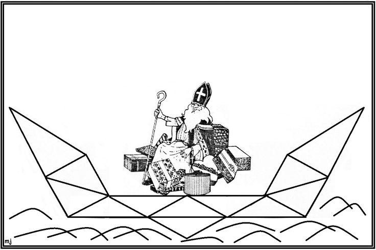 * Mozaïek: Op gekleurd papier afdrukken  mozaïek erop laten leggen of laten op- na-plakken. 3-9