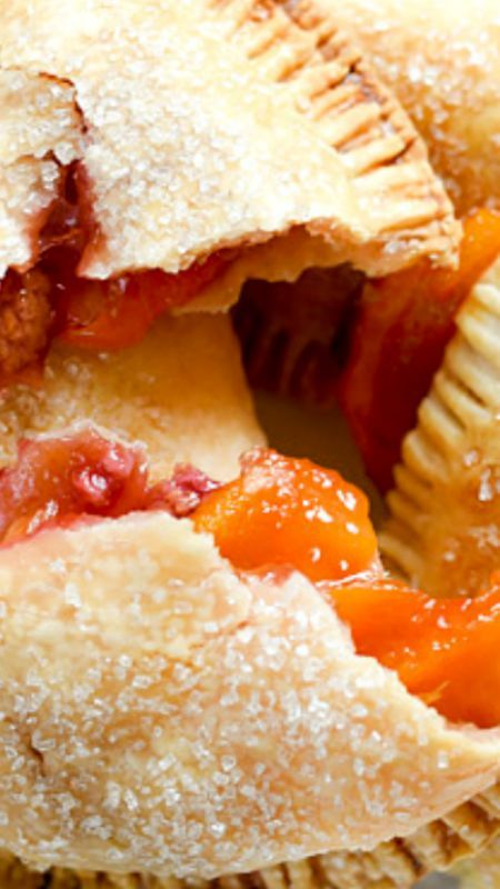 Raspberry Peach Hand Pies ~ Store-bought pie crust and the season's freshest fruit makes these simple hand pies an easy dessert or snack