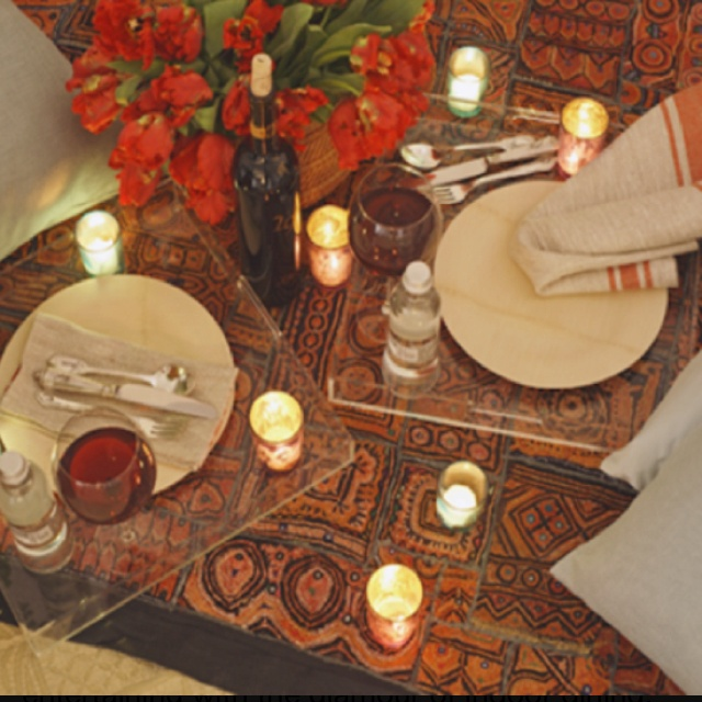 Indoor Romantic Picnic For Two :*