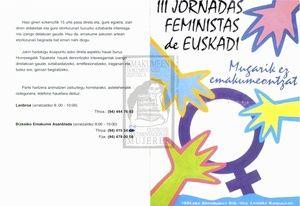 III Jornadas Feministas de Euskadi, celebradas en el año 1994 en Leioa. Digitalizadas,las puedes descargar aquí:  http://cdd.emakumeak.org/recursos/2417#