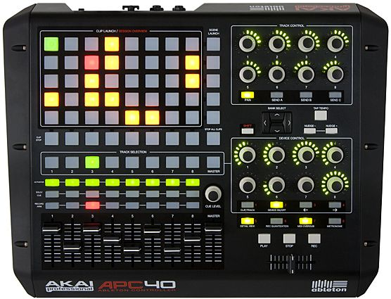 AKAI APC 40 - what I use to control my Ableton clips