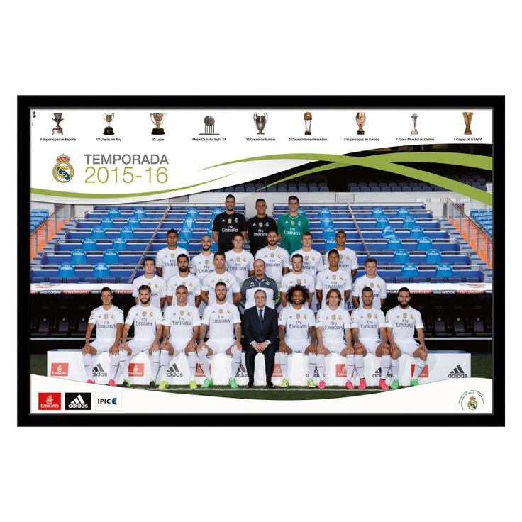 Trends International Real Madrid - Team Wall Poster 2015-2016 - 22W x 34H in. - FR14460BLK22X34