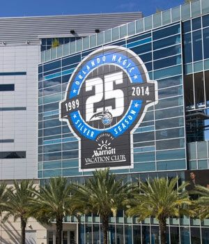 Orlando Magic Deck Out Amway Center With 25th Anniversary Decals | THE OFFICIAL SITE OF THE ORLANDO MAGIC