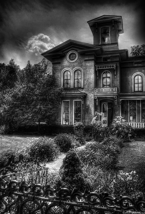Mike Savad - A haunted house, dark skies, a bit eerie. Makes a nice framed print for any Halloween buff. Old, spooky and mysterious is what people will say when they see this on your wall.