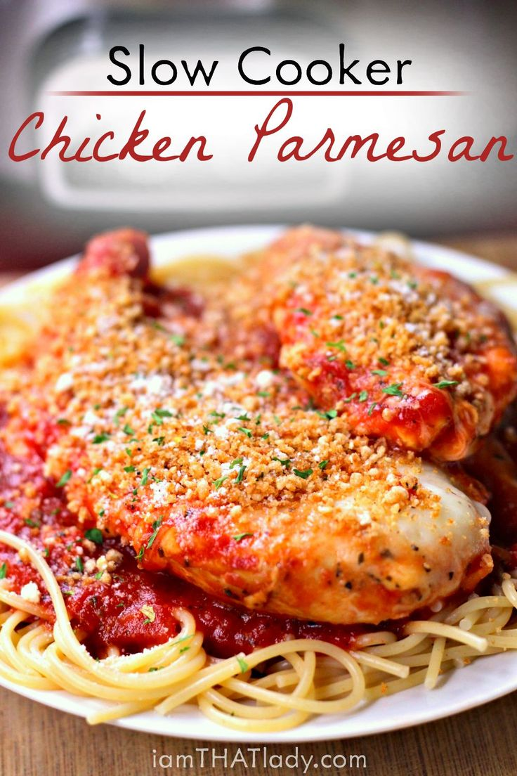 Chicken Parmesan in the crockpot? Yes. And it's actually good. And by good I mean AMAZING!
