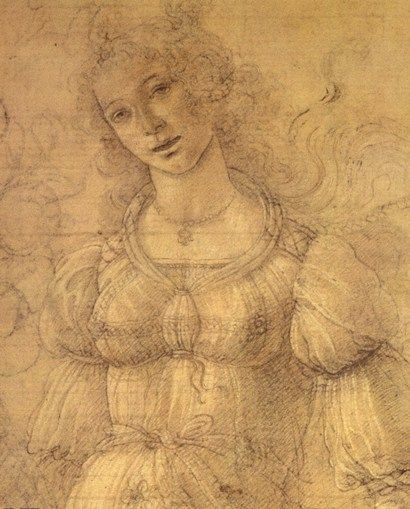 Drawing of a Woman by Sandro Botticelli