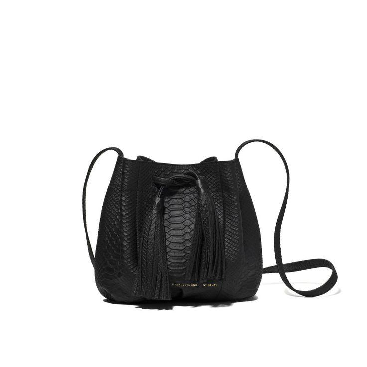 "Zofia Chylak - Small Bucket Bag ""python"""