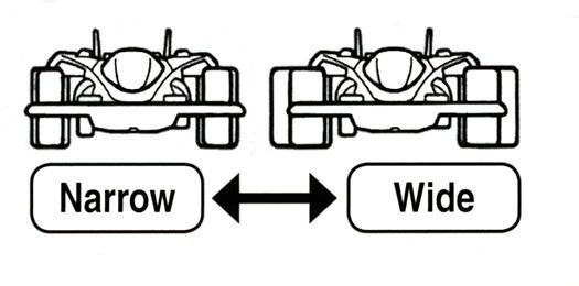 Narrow VS. Wide Tires  Wide Tires: Provide stability during cornering. Good for technical courses with banking curves and ups and downs.  Narrow Tires: Good for long straights. Less drag on the motor, which may give the advantage of longer run times.