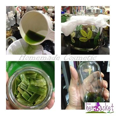 Pandan leaves....Good smell !! ^^ You just put some alcohol and leave it for 3 nights and you will get Pandan Aroma....