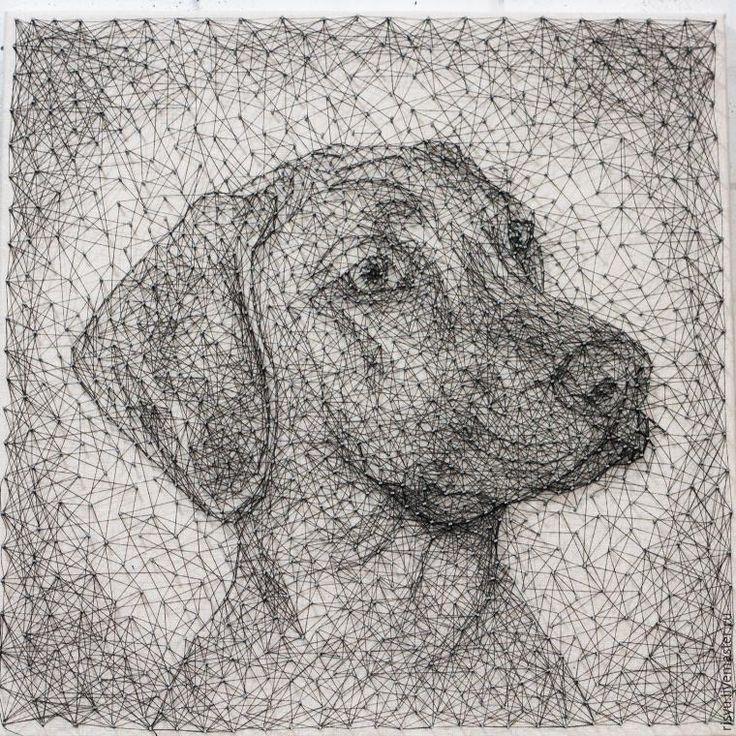 Создаем необычный портрет в стиле «стринг арт» - Ярмарка Мастеров - ручная работа, handmade