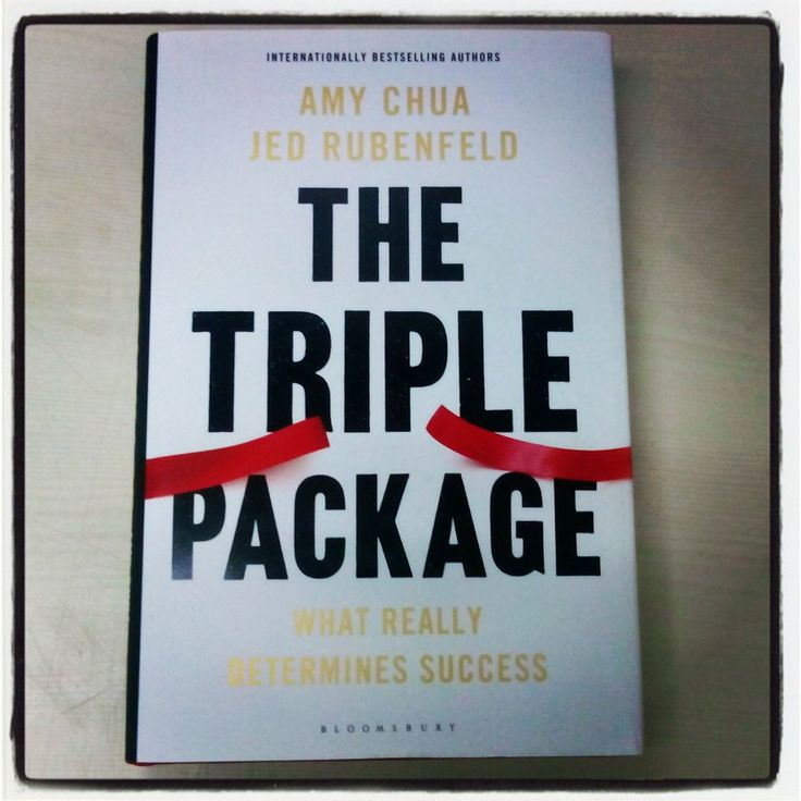 The Triple Package out this month!