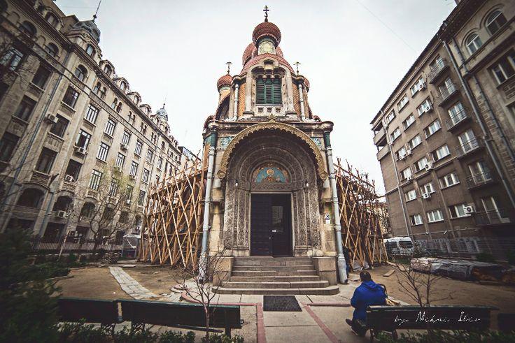 Biserica Sf. Nicolae, Rusa - a studentilor. Saint Nicolae church, Russian church or students church, Old City, Bucharest