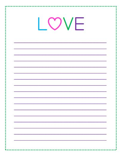 Heart Themed Lined Paper - I love this lovely printable paper for note taking! You can get other cute paper templates here too.