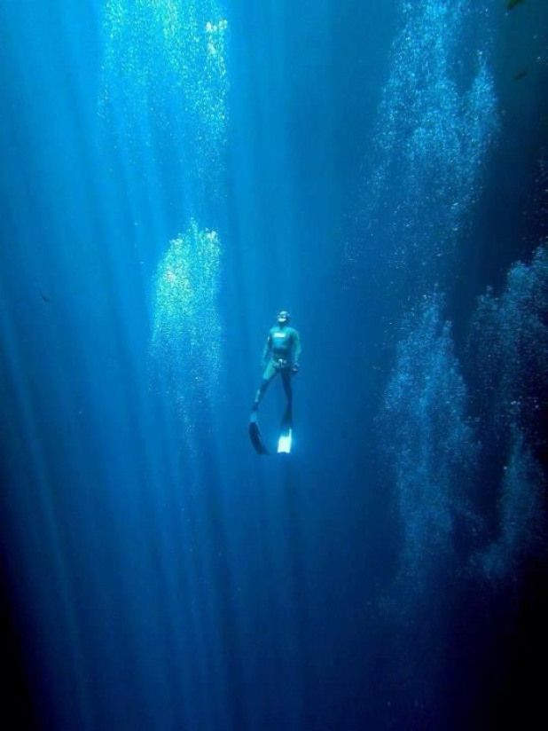 Apneista Ascendiendo Extremesports Extreme Sports Scary Skin Diving Diver Tattoo Diving