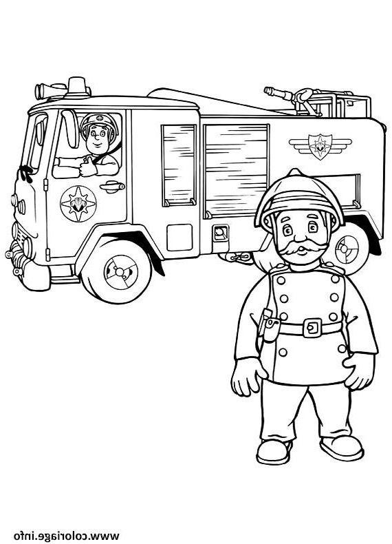 Coloriage Camion Pompier 8 Calme Coloriage Camion Pompier