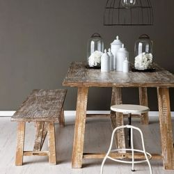 Simply stunning vintage industrial dining table.