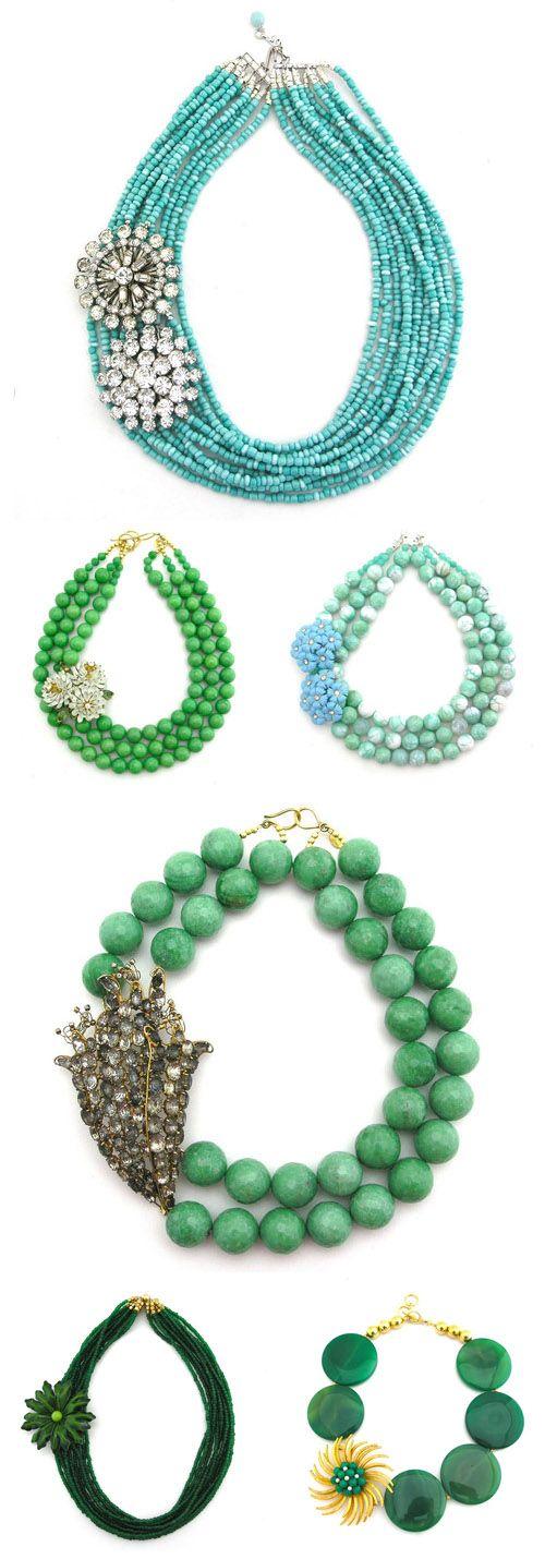 Elva Fields spring 2012 vintage necklace collection!