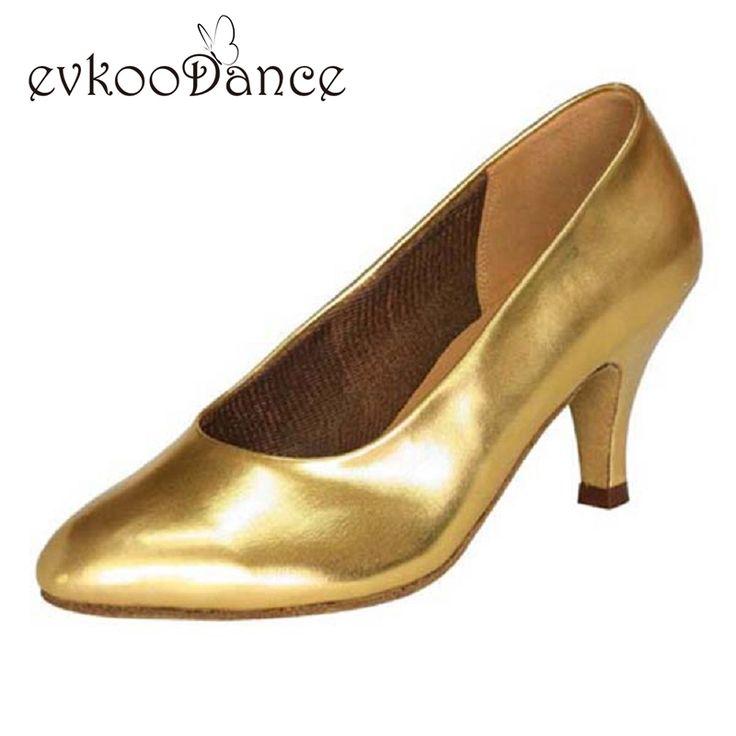 Zapatos De Baile Heel Height 6cm Tan And Gold Comfortable Size US 4-12 Womens Practice Ballroom Salsa Dance Shoes NB021 #Affiliate