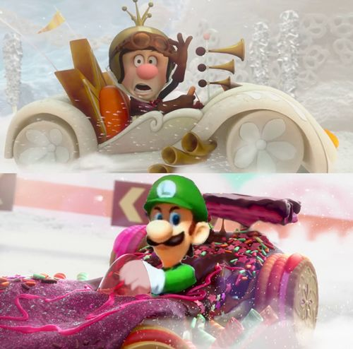 The most random picture on the internet- Mario Kart and Wreck-it Ralph.