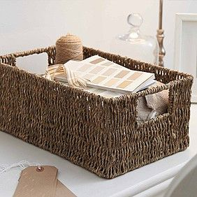 Gorgeous natural seagrass wicker baskets that make great additions to any room.