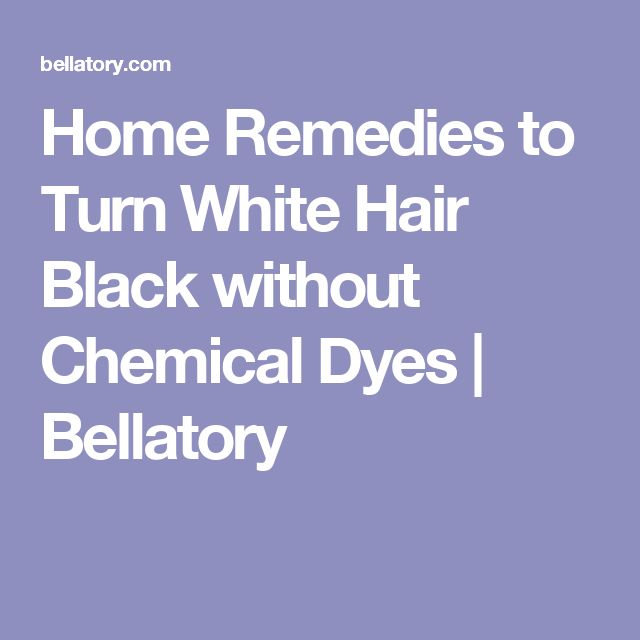 how to turn black hair white