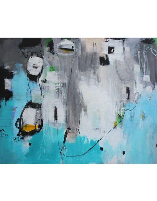 Bettina Holst acrylic painting / akryl maleri 120x150