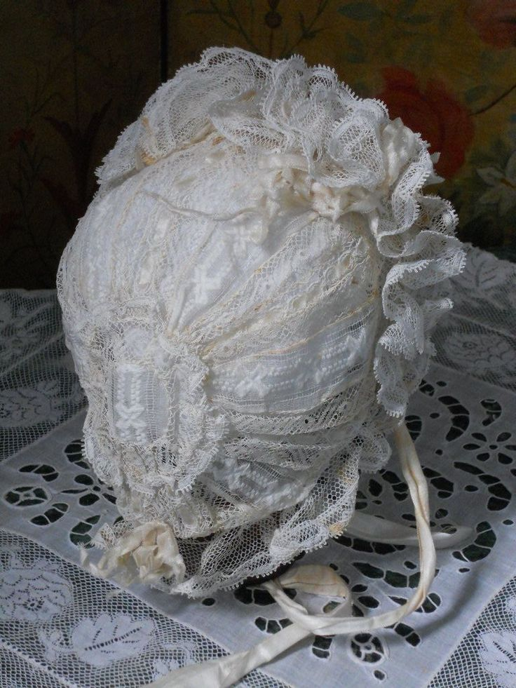~~~ Pretty Antique French Lace BeBe Bonnet ~~~ from whendreamscometrue on Ruby Lane