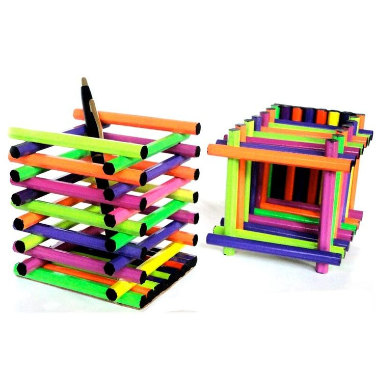 Pen Stand Designs : Handmade pen stands design decoration