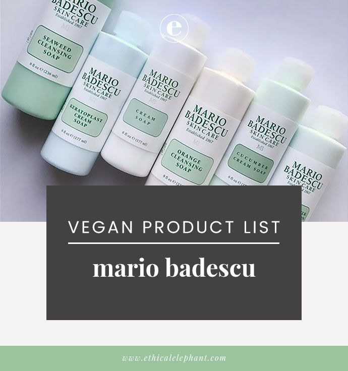 Is Mario Badescu Cruelty Free And Vegan Mario Badescu Vegan Skincare Mario Badescu Skin Care