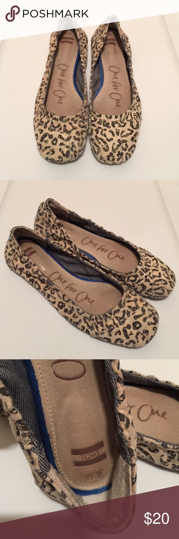 TOMS Ballerina Flats TOMS Ballerina Flats, Leopard Print! Pre-loved. Size 6 🚫NO TRADES TOMS Shoes