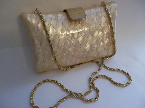 Vintage ITALiAN MOTHER of PEARL Clutch by MaisonettedeMadness, $150.00