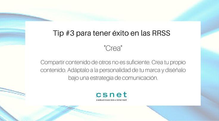 #CSnet #Consejo #RedesSociales #Crear #RRSS