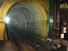 The Thames Tunnel, the world's first underwater tunnel.