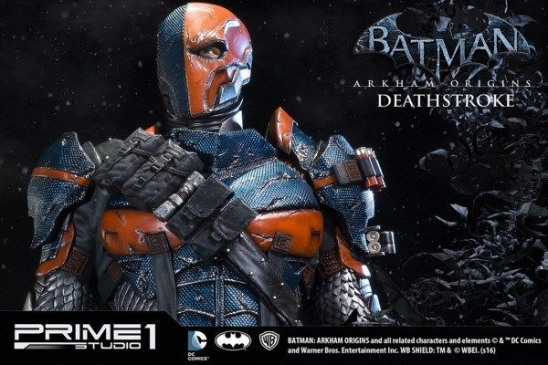 The upcoming Deathstroke statue from Prime 1 Studio is packed with so much detail, you'll think the mercenary is really standing watch.
