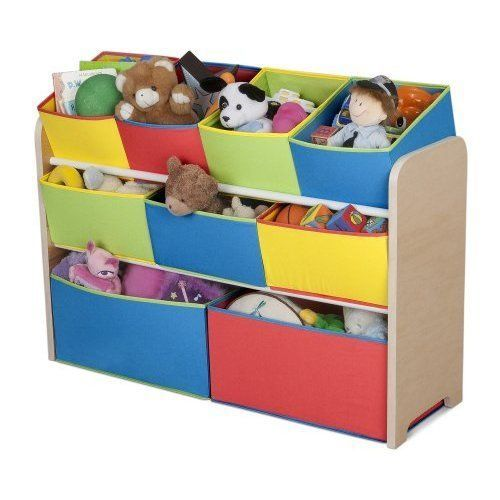 Kids Storage Organizer Rack Bookcase Container Bins Cubes Toys Box Plastic #Unbranded