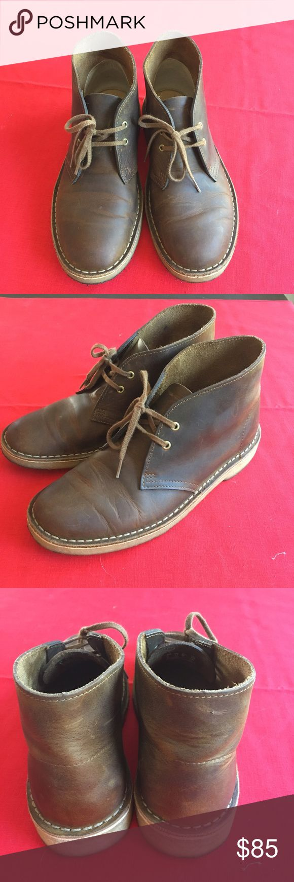 Clarks Desert Boots, 8.5 Almost new Clarks Desert boots, beeswax leather. Women's 8.5, men's 7 and in excellent condition. Will ship in original box. I love these but they were ultimately too small on me. Only wore there about 3-4 times. Clarks Shoes Ankle Boots & Booties