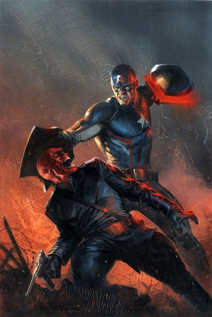 Captain America: Steve Rogers #15 Cover Painting by Gabriele Dell'Otto - Comic Art Community GALLERY OF COMIC ART