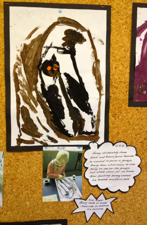 """Display describing the children's activity & next steps - shared by ABCDoes ("""",)"""