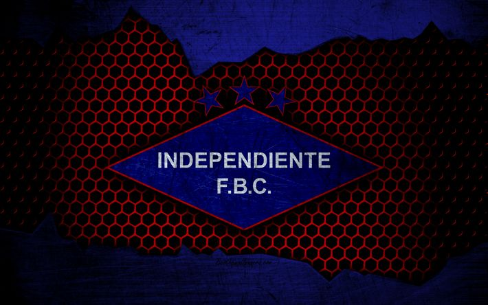 Download wallpapers Independiente, 4k, logo, Paraguayan Primera Division, soccer, football club, Paraguay, grunge, metal texture, Independiente FC