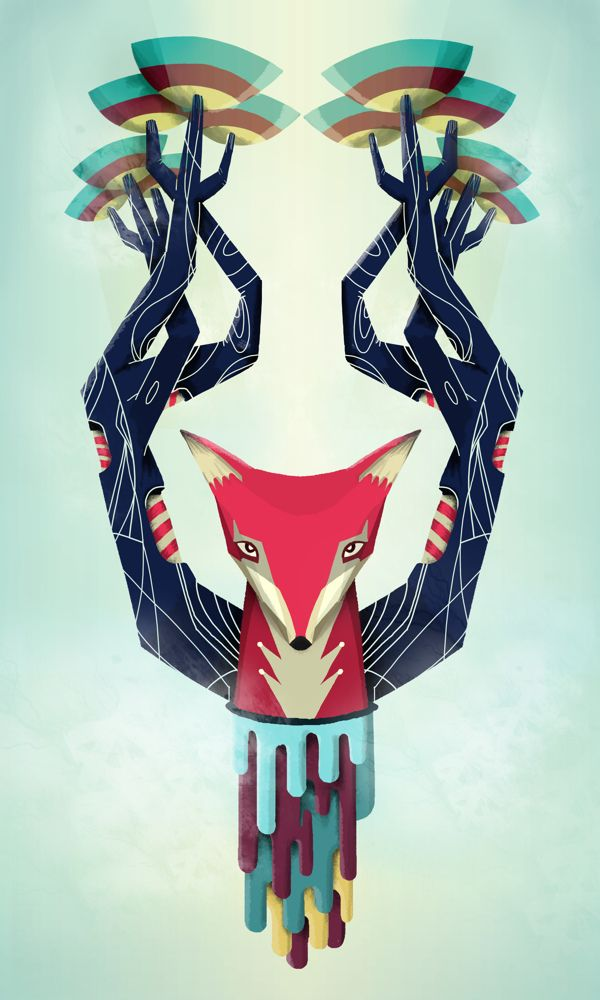 Vulpino / Personal Illustration by Andres Eraso, via Behance