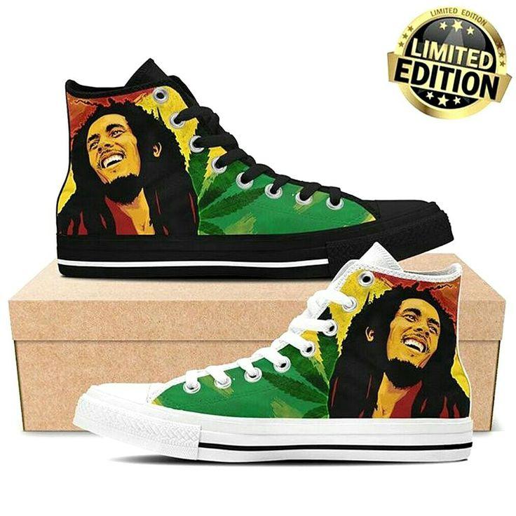 CONVERS Hand Paint Custom - Bob Marley.
