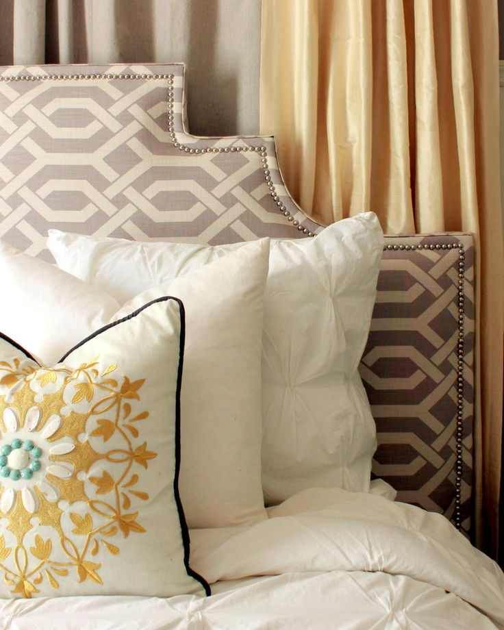 DIY Upholstered Headboard contemporary bedroom